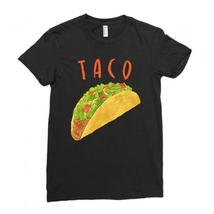 Taco Ladies Fitted T-shirt Designed By Akin