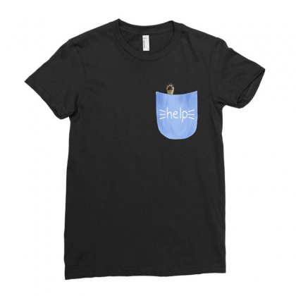 Help Pocket Paw Ladies Fitted T-shirt Designed By Akin