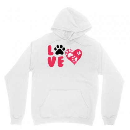 Dog Love For White Unisex Hoodie Designed By Akin