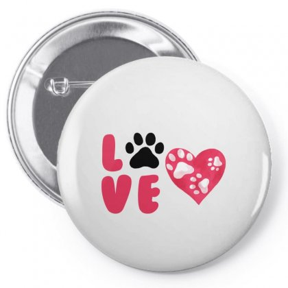 Dog Love For White Pin-back Button Designed By Akin