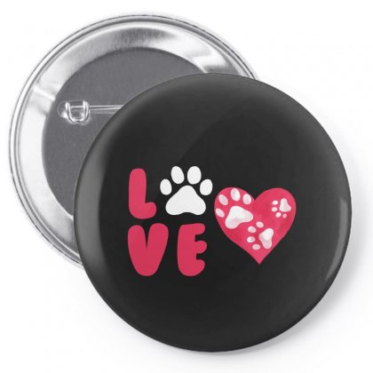Dog Love For Dark Pin-back Button Designed By Akin