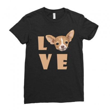 Love Dog Ladies Fitted T-shirt Designed By Akin
