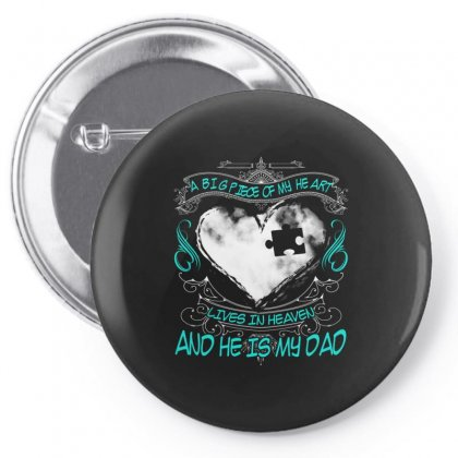A Big Piece Of My Heart Lives In Heaven Pin-back Button Designed By Kakashop
