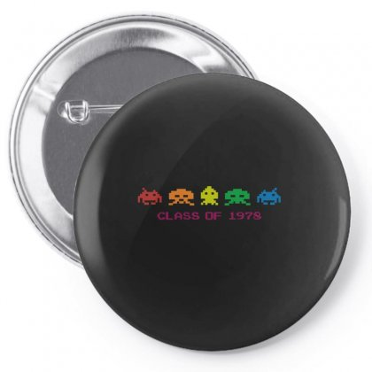 Funny Retro Space Invaders 'class Of 1978' Pin-back Button Designed By Ismi