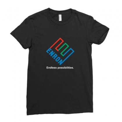 Funny Retro Enron Ladies Fitted T-shirt Designed By Ismi