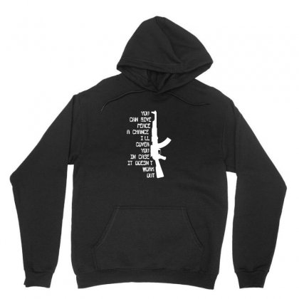 Funny Militaryarmymarines Ak47 'give Peace A Chance, I'll Cover You' Unisex Hoodie Designed By Ismi