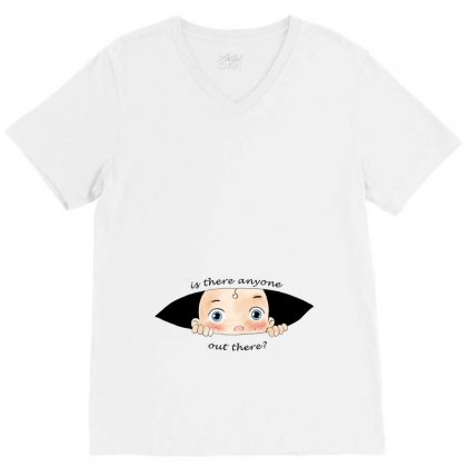 Is There Anyone Out There Baby Boy V-neck Tee Designed By Akin