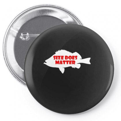 Funny Size Does Matter Fishing Fish Holiday Jarvis Reel Rod Line Sinke Pin-back Button Designed By Ismi