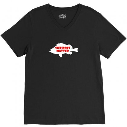 Funny Size Does Matter Fishing Fish Holiday Jarvis Reel Rod Line Sinke V-neck Tee Designed By Ismi