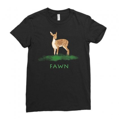 Fawn Gazelle Ladies Fitted T-shirt Designed By Akin