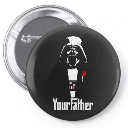Funny Stars Wars Godfather Parody Yourfather Mens Pin-back Button Designed By Ismi
