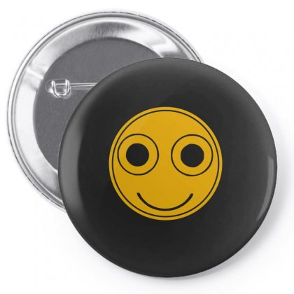 Funny Smiley Face Pin-back Button Designed By Ismi