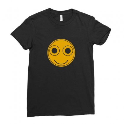 Funny Smiley Face Ladies Fitted T-shirt Designed By Ismi