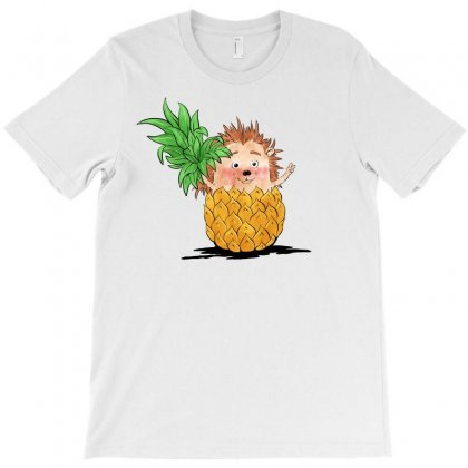 Hedgehog Pineapple T-shirt Designed By Akin