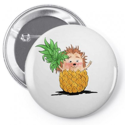 Hedgehog Pineapple Pin-back Button Designed By Akin