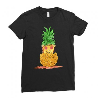 Pineapple Summer Pizza Ladies Fitted T-shirt Designed By Akin