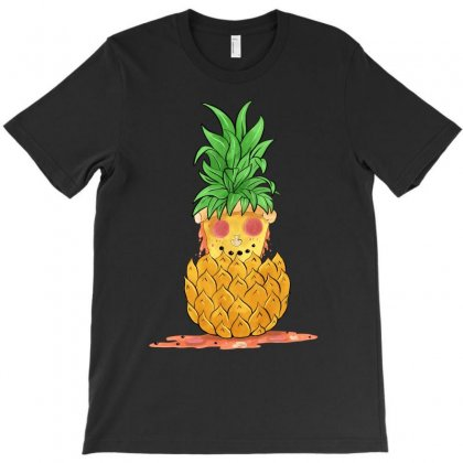 Pineapple Summer Pizza T-shirt Designed By Akin