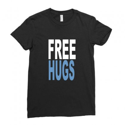 Funny T Shirts Free Hugs Adult Ladies Fitted T-shirt Designed By Ismi