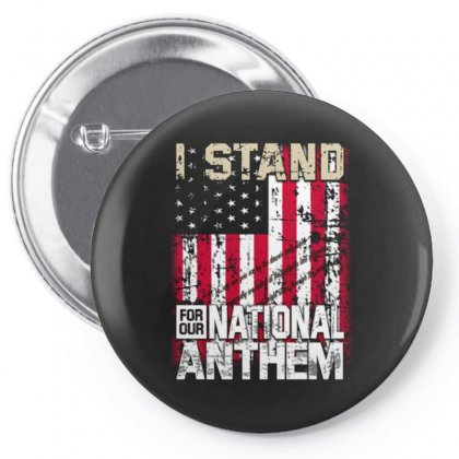I Stand For Our National Anthem Pin-back Button Designed By Kakashop
