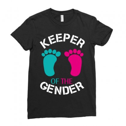 Keeper Of The Gender Ladies Fitted T-shirt Designed By Wizarts