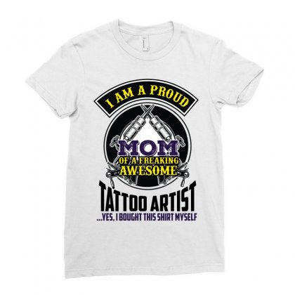 I Am A Proud Mom Ladies Fitted T-shirt Designed By Wizarts