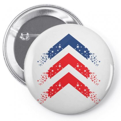 Usa Up Arrow Pin-back Button Designed By Lion Star Art