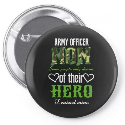 Army Officer Mom Pin-back Button Designed By Wizarts