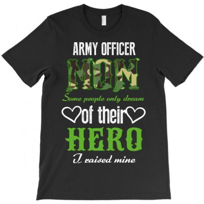 Army Officer Mom T-shirt Designed By Wizarts