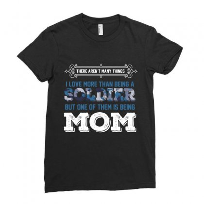 Soldier Mom Ladies Fitted T-shirt Designed By Wizarts