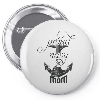 Proud Navy Mom Pin-back Button Designed By Wizarts