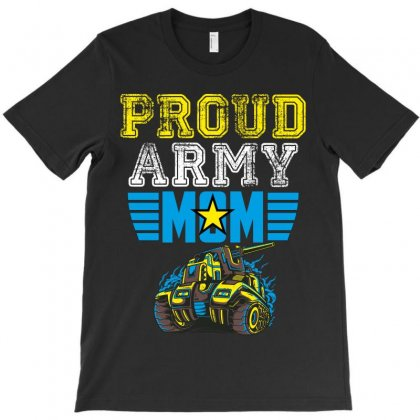 Proud Army Mom T-shirt Designed By Wizarts