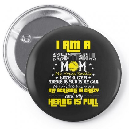 I Am A Softball Mom Pin-back Button Designed By Wizarts