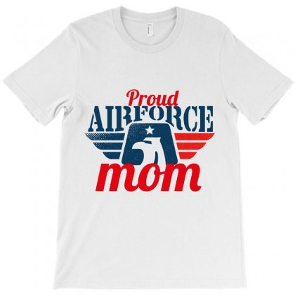 Proud Airforce Mom T-shirt Designed By Wizarts