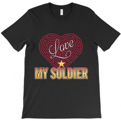Love My Soldier T-shirt Designed By Wizarts