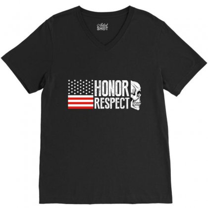 Honor Respect V-neck Tee Designed By Wizarts