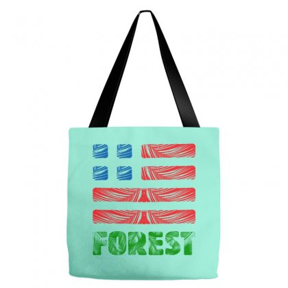 Us Forest Illustration Icon Tote Bags Designed By Lion Star Art