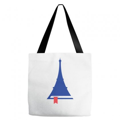 France Eiffel Tower Reading Icon Tote Bags Designed By Lion Star Art