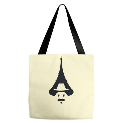 Eiffel Man Creative Icon Tote Bags Designed By Lion Star Art