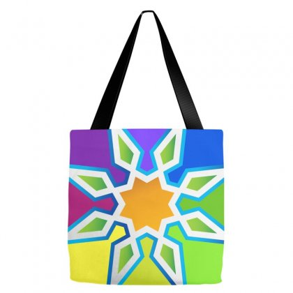 Geometric Colorful Tote Bags Designed By Lion Star Art