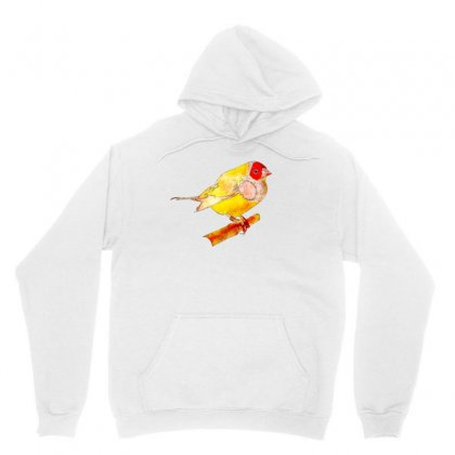 Gouldian Finch Watercolor Drawing Unisex Hoodie Designed By Lion Star Art