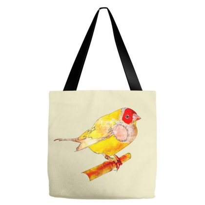 Gouldian Finch Watercolor Drawing Tote Bags Designed By Lion Star Art