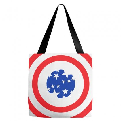 Usa Neck Circle Tote Bags Designed By Lion Star Art