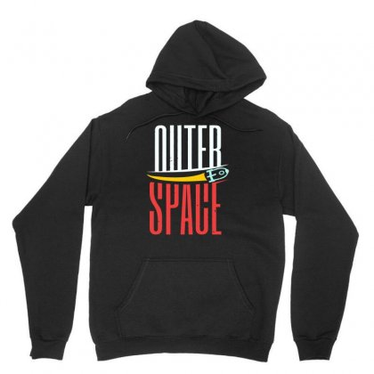 Rocket Moon Outer Space Unisex Hoodie Designed By Satrio Art