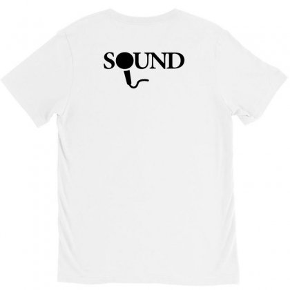 Sound Creative Icon V-neck Tee Designed By Lion Star Art