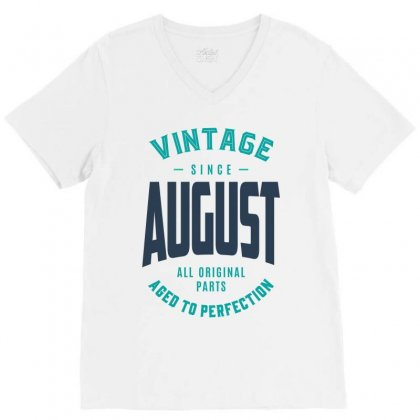Made In August V-neck Tee Designed By Chris Ceconello