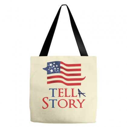 Usa Tell A Story Creative Icon Tote Bags Designed By Lion Star Art