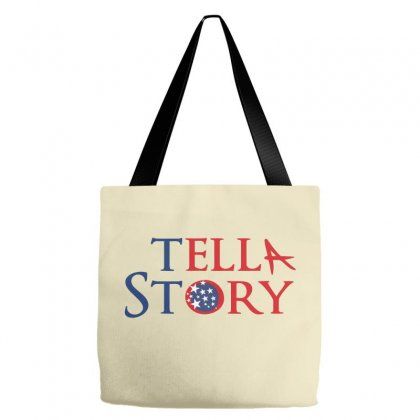 Usa Tell A Story Creative Typography Tote Bags Designed By Lion Star Art