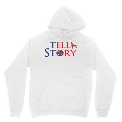 Usa Tell A Story Creative Typography Unisex Hoodie Designed By Lion Star Art