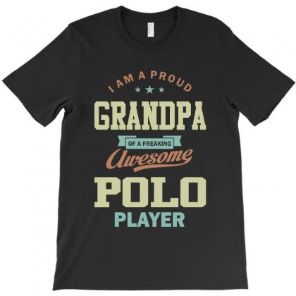 Proud Grandpa Of A Polo Player T-shirt Designed By Cidolopez