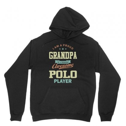 Proud Grandpa Of A Polo Player Unisex Hoodie Designed By Cidolopez